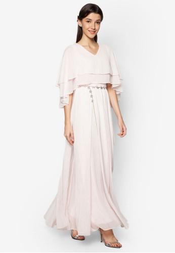 Layered Cape Dress, 服飾, 長洋zalora鞋裝