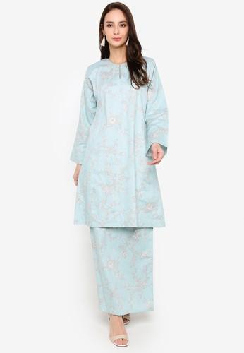 Butik Sireh Pinang blue Baju Kurung Pahang Hayati 11174AA1AAFD32GS_1