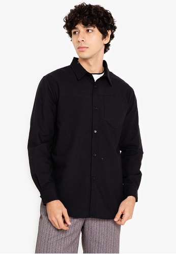 ZALORA BASICS black Long Sleeve Regular Fit Shirt 1A0DAAA7DD3AADGS_1