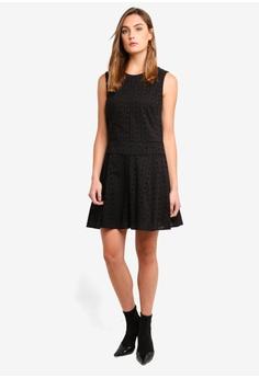 1479292b59e DKNY Sleeveless Crew Neck Flare Dress RM 730.00. Sizes XXS XS L XL