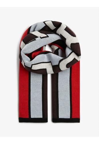 Burberry 多色 BURBERRY/ 博柏利 標誌INTARSIA混羊毛足球圍巾 CFFC1AC8AF3198GS_1