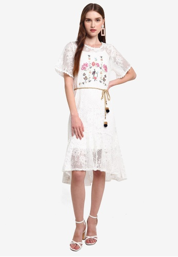 Hopeshow white Lace Midi Dress with Embroidery D133FAA2133547GS_1