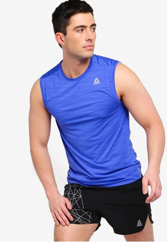 e4533c39c99b2 Reebok blue Training Core Workout Ready ACTIVCHILL Sleeveless Top  75958AA138A5D2GS 1