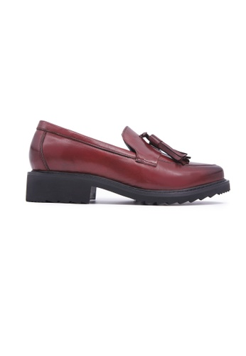 Flatss & Heelss by Rad Russel brown Loafer with Tassels - Burgundy B83A1SH14FA527GS_1