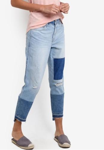 拼接牛仔褲, 服飾, 服esprit 評價飾