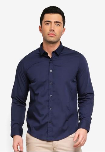 Brave Soul navy Tudor Long Sleeve Shirt AFDC3AAED172F4GS_1