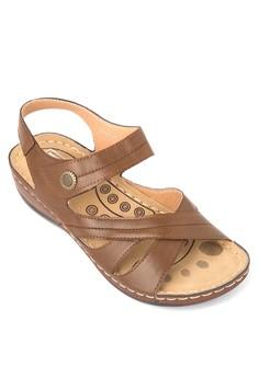 Sling Back Wedge Sandals