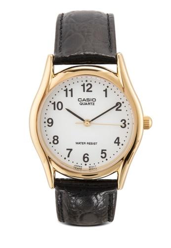 Casio black Enticer Analog Men's Leather Strap Watch MTP-1094Q-7B1 CA843AC39MIAMY_1