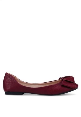 Bata purple Round Toe Bow Flats 7A981SH1A68433GS_1