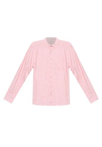 LC Waikiki red Linen Blend Shirt 63BCAAA5ADBBA6GS_1