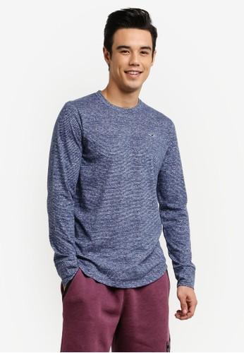 Hollister multi and navy DTC Texture T-Shirt HO422AA0RDV7MY_1