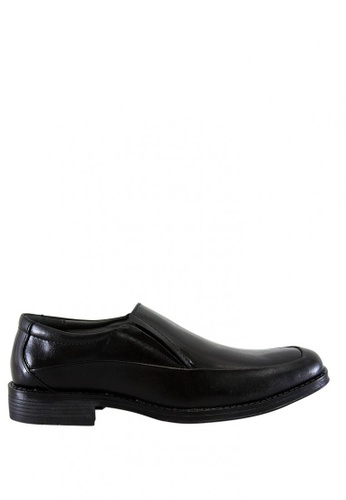 Hush Puppies black Stapler Slip On Dress Casual Shoes HU326SH0J3X8PH_1