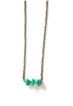 Simple Green Turquoise Necklace