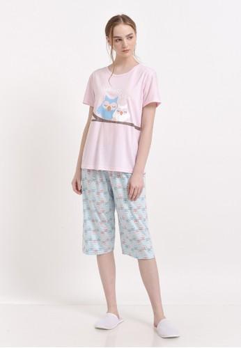 XAYANA Pyjama Set Owl Cuddle Pinkblue 0795BAAA6E1EE5GS_1