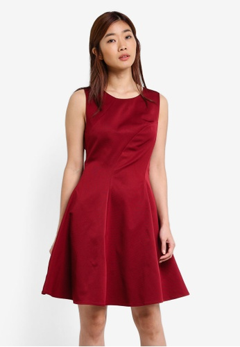 ZALORA red Grosgrain Dress 049AEAABA7B965GS_1
