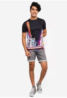 26cd04827 16% OFF River Island Tokyo Print Muscle Fit T-Shirt S$ 31.90 NOW S$ 26.90  Sizes XS S M L