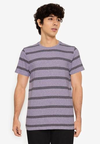 Old Navy purple Short Sleeve Stripe Tee 51BADAAB8A75E0GS_1