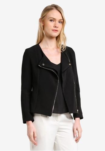 ZALORA black Tailored Biker Jacket A14A5ZZ1E786D4GS_1