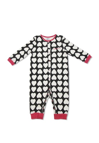 TeePeeTo black and white Hearts Girl Romper BDE42KAEB426D5GS_1