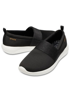 Crocs Women's LiteRide™ Slip-On Blk/RGd/Whi RM 309.00