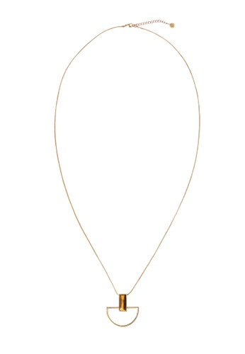 My Flash Trash gold Picasso Pendant Necklace EB8D8ACDA234E0GS_1