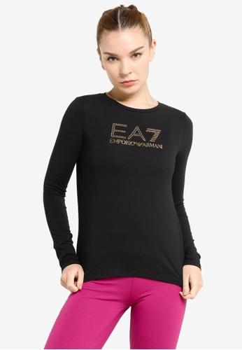 EA7 black Train Evolution Long Sleeves Tee 2B526AAEE9D43CGS_1