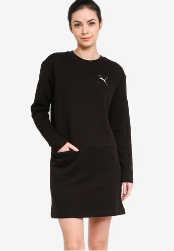 PUMA 黑色 NU-TILITY 圓領Women's 洋裝 AF4E4AAFBE2EC7GS_1