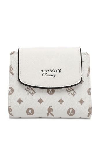 PLAYBOY BUNNY white Women's Purse With Coin Compartment / Wallet With Coin Compartment EFFDCAC6859895GS_1