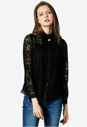 Hopeshow black Woolen Button Shirt 92519AA9DF78C1GS_1