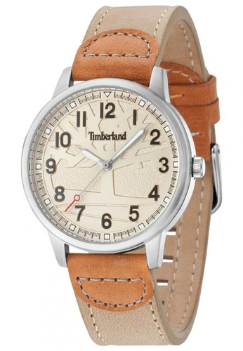 Timberland beige Abington TBL.15030MS/07 Beige Leather Strap Women Watch TI063AC99TQUMY_1