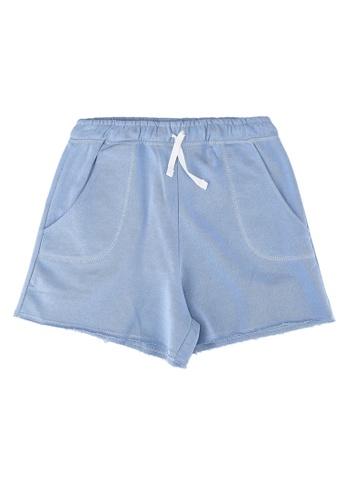 MANGO KIDS blue Frayed Hem Shorts 9AE2AKAF9C17CFGS_1