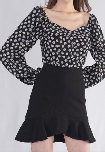 Plain B. black Plain B. Ruffle Short Casual Pants Skirt 35F6CAA4210344GS_1