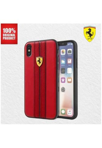 Ferrari red Ferrari On Track PU Leather - Case iPhone X / XS - Red 8487EESA28F47CGS_1