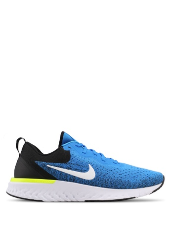 Nike black and white and blue Men's Nike Odyssey React Running Shoes CE810SH7FA548BGS_1
