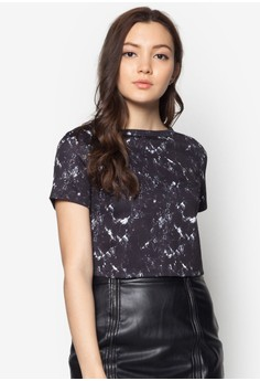 Marble Printed Boxy Top