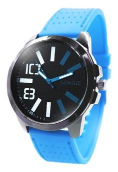 Senjue Jackson Rubber Strap Watch 7000-1