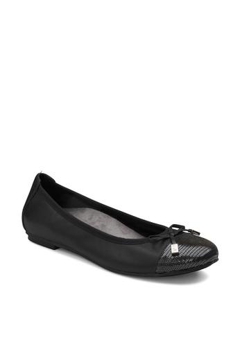 Vionic black Spark Minna Ballet Women's Casual Shoes 4F6E6SH4001AE0GS_1