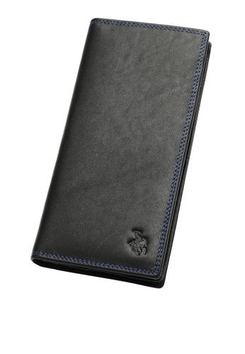 Swiss Polo black Bi-Fold Rfid Blocking Long Wallet 6D928ACC4960EBGS_1