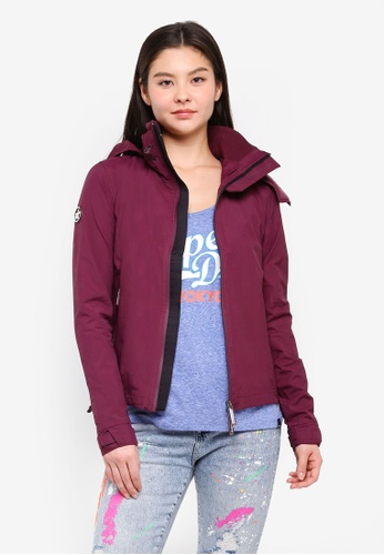 Superdry black and red Hooded Cliff Hiker Jacket 336D4AA73DFE77GS_1