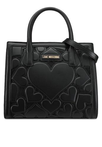 Love Moschino black Borsa Lamb Top Handle Bag LO478AC0SEITMY_1