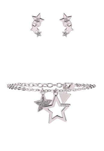 Guess silver Star Bracelet And Earring Set 59670AC5F63863GS_1