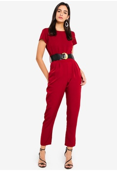 80910906fc5 59% OFF Dorothy Perkins Berry Belted Jumpsuit S  119.00 NOW S  48.90 Sizes 8