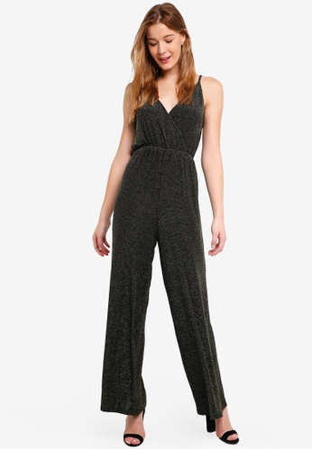 Glamorous black Metallic Print Jumpsuit 2E55FAA5E67453GS_1