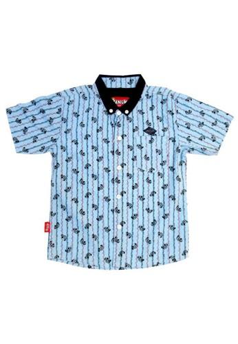 Pingu blue Pingu - Kemeja Anak Lengan Pendek Printing Car - 92205508 75346KAC0354A6GS_1