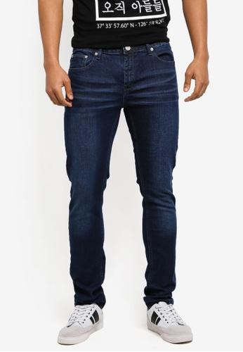 Electro Denim Lab blue Calypso Slim Tapered Jeans 3525DAA767DD5EGS_1