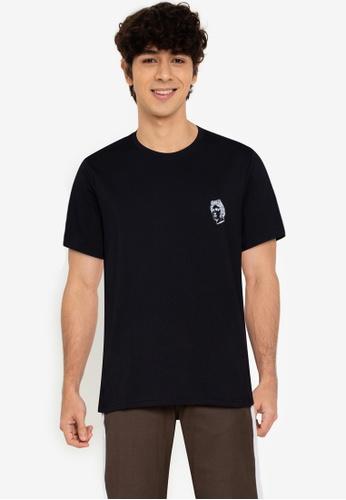 ZALORA BASICS black Roman T-Shirt 0C045AA18B97E3GS_1
