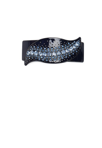 Glamorousky blue Simple and Fashion Dark Blue Leaf Hair Slide with Cubic Zirconia F2C2CAC2FC4BFAGS_1