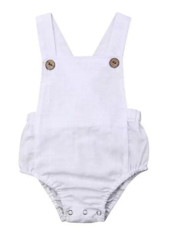 RAISING LITTLE white Jone Romper - White B477AKA7E86B1EGS_1