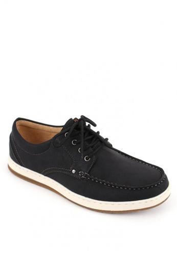 7soles black Bryson Men's Smart Casual Shoes 974E6SHA4B9405GS_1