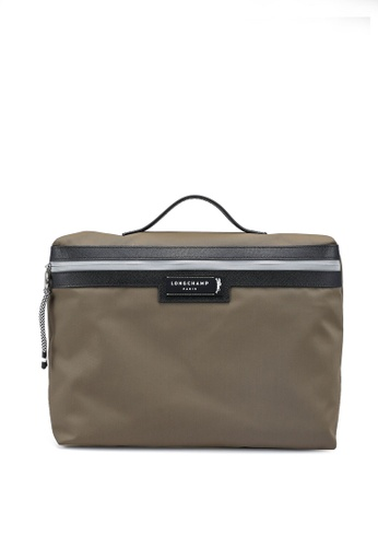 LONGCHAMP brown Green District Briefcase (zt) B39ADAC5C6A8EAGS_1